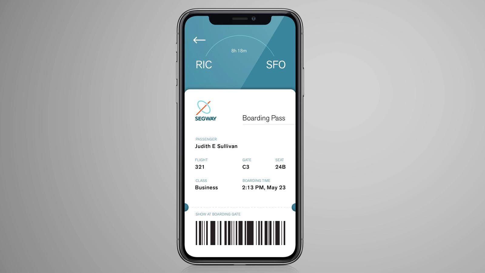 Segway Rebrand // Boarding Pass