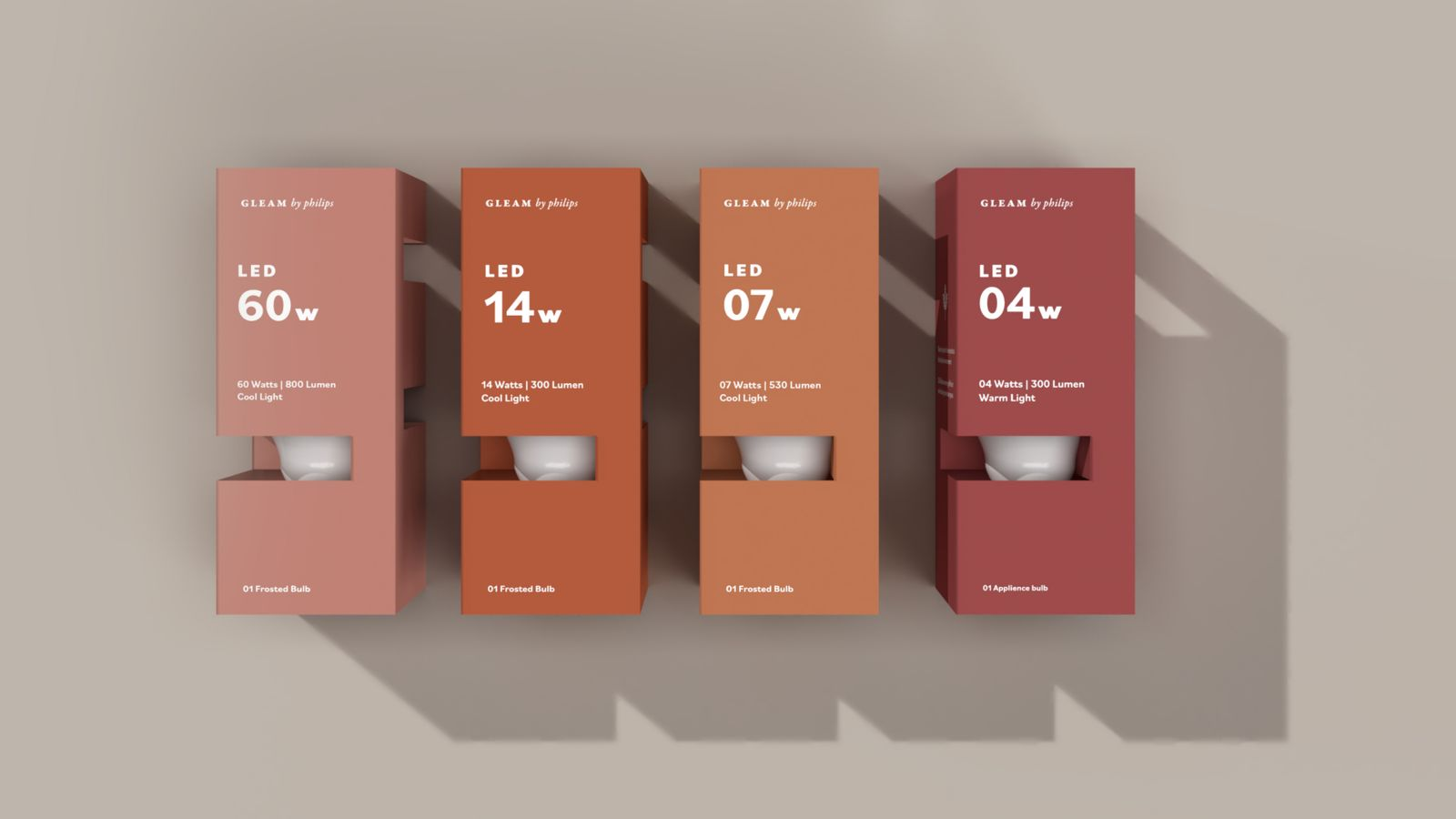 Gleam by Philips // Sustainable Lightbulb Packaging