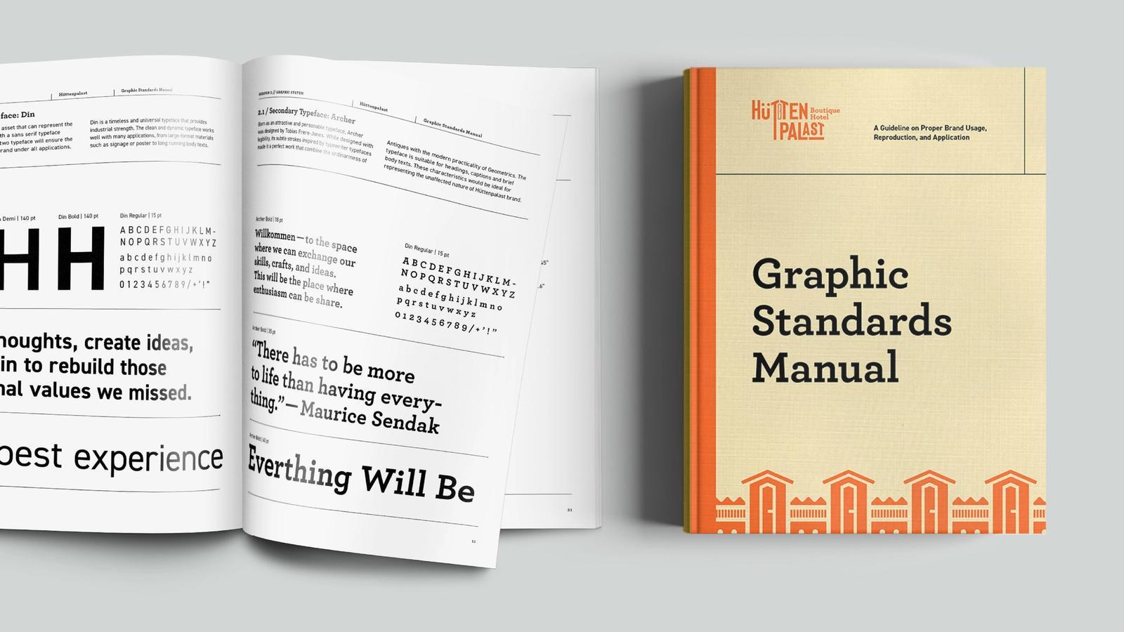 Hüttenpalast Hotel // Graphic Standards Manual