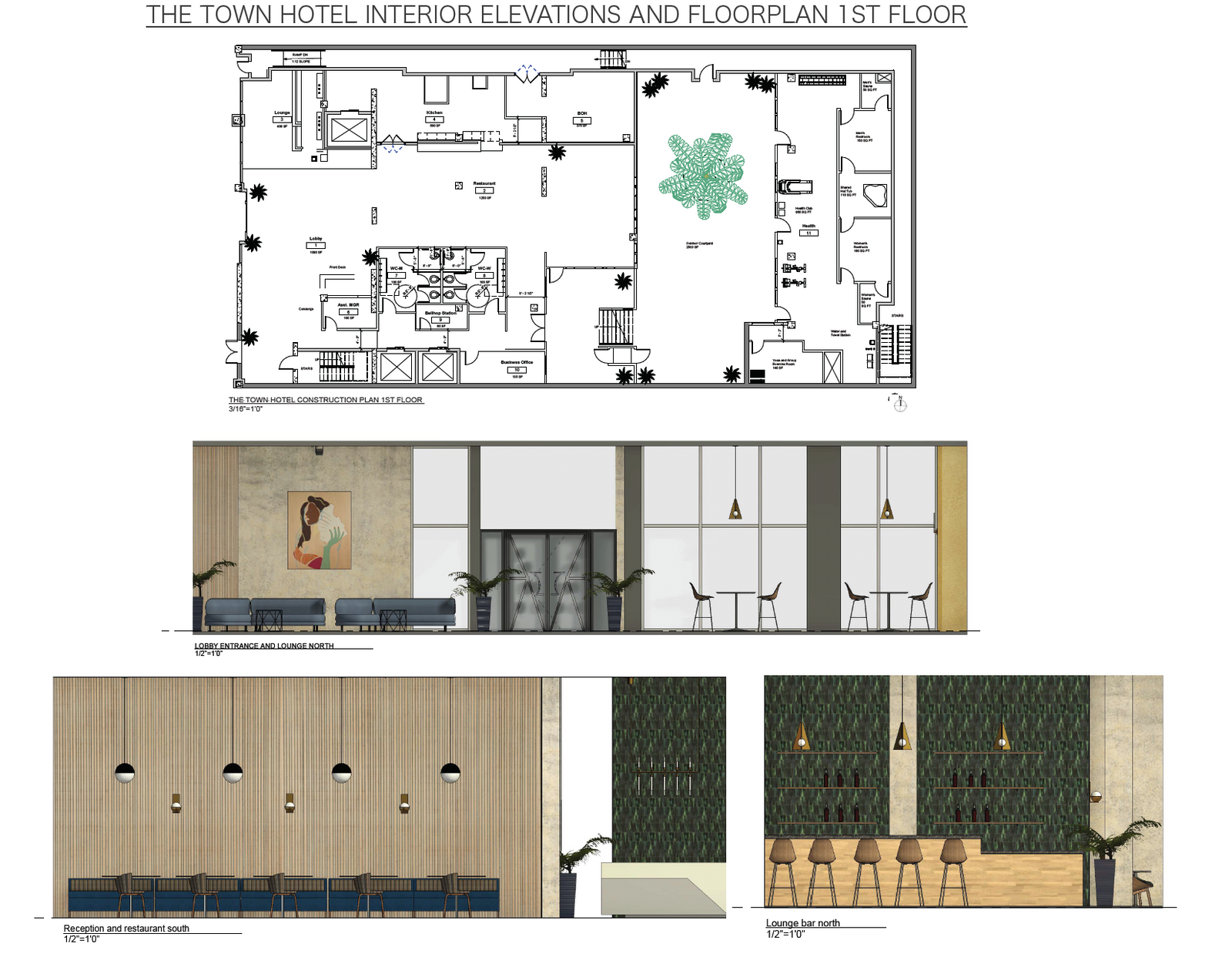 The Town Hotel - First Floor Plans