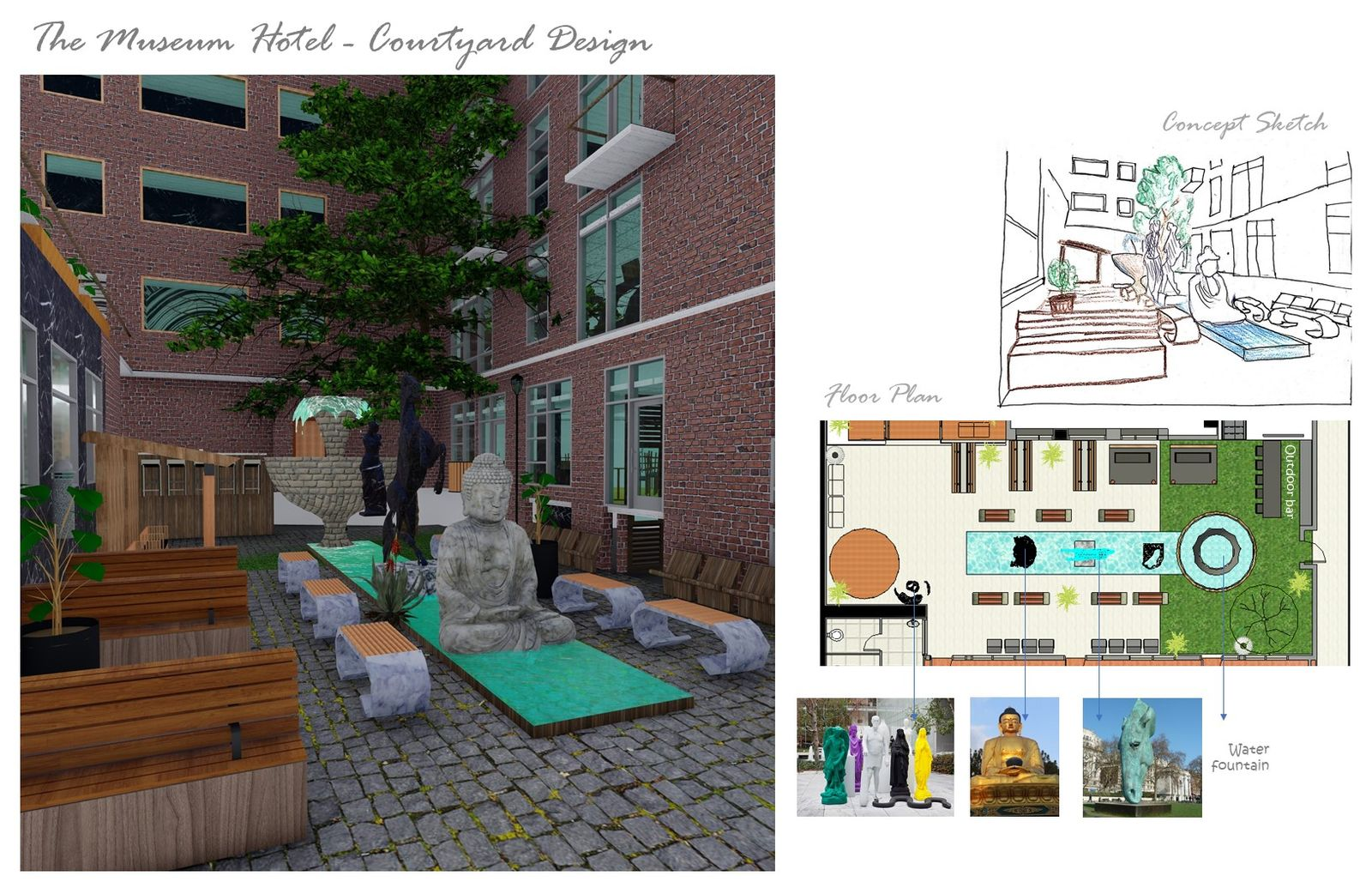 The Museum Hotel - Courtyard Design
