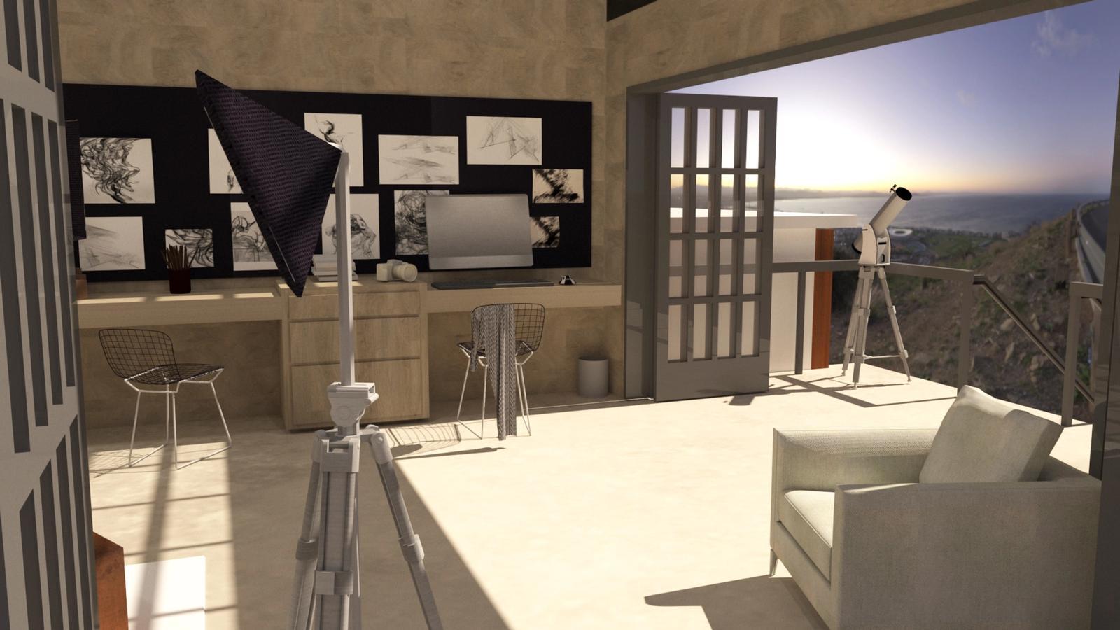 Artist Studio Loft - Studio in the Morning