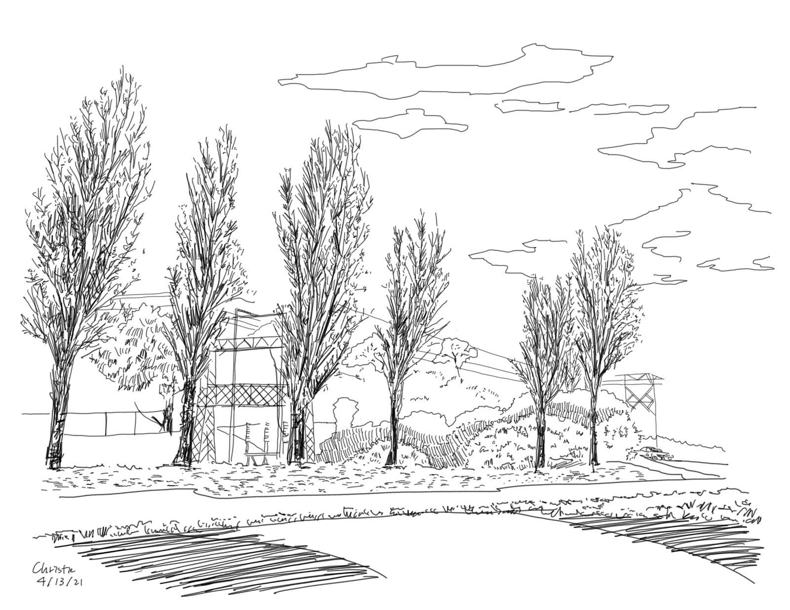 India Basin Park, San Francisco - Site Inventory Sketch 4