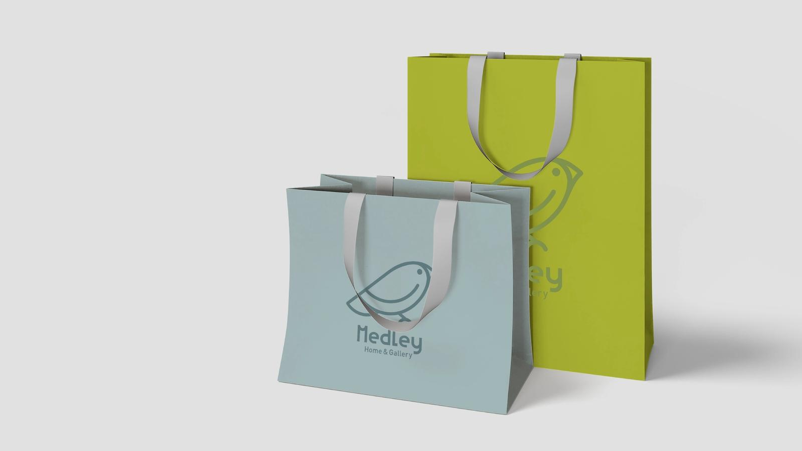 Medley Shopping Bags // Boutique Retail Branding