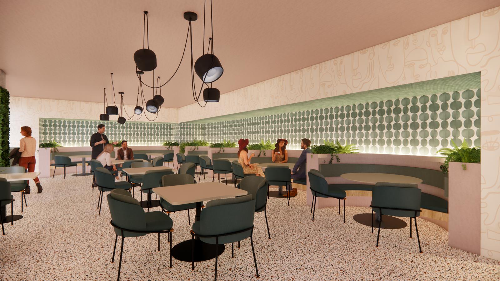 Hella Better Hotel - Oak + Soul Restaurant Seating