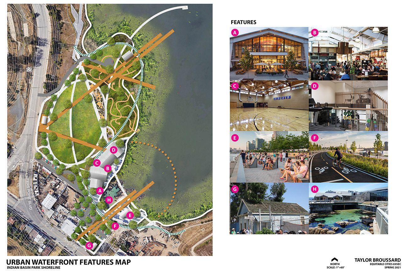 India Basin Park, San Francisco - Illustrative Site Plan Urban Waterfront Zone