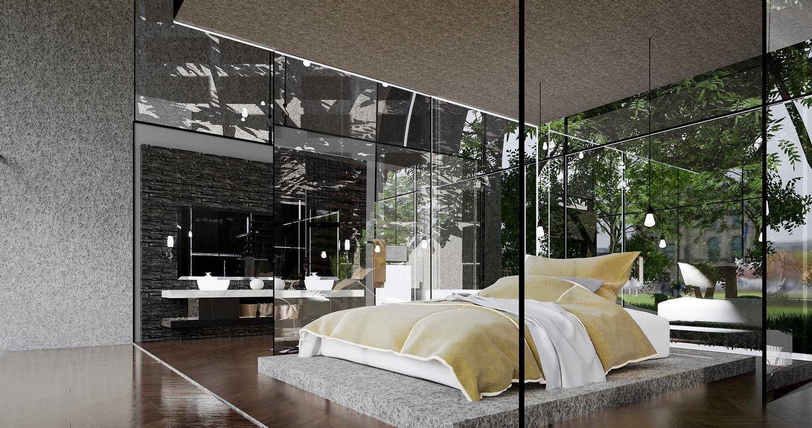 The Park - Interior Bedroom Visualization ( SketchUp + D5 render )
