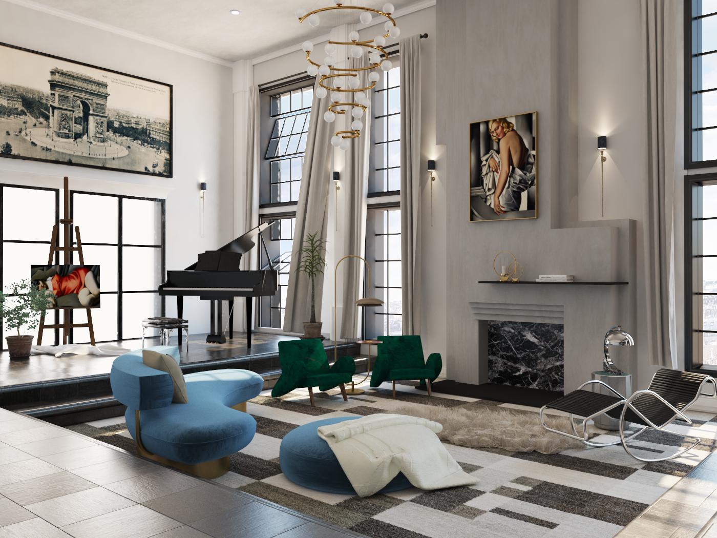 The Green Bugatti - Living Room