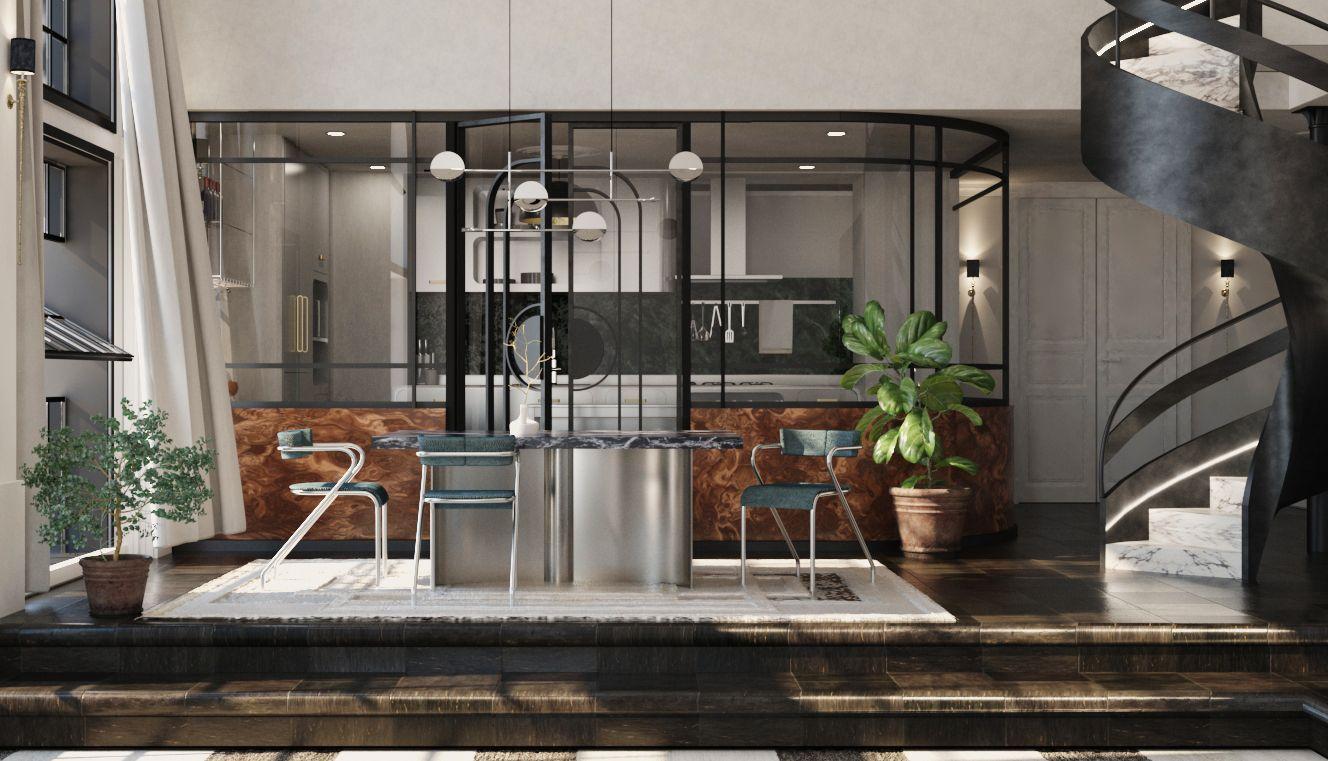 The Green Bugatti - Dining area 1
