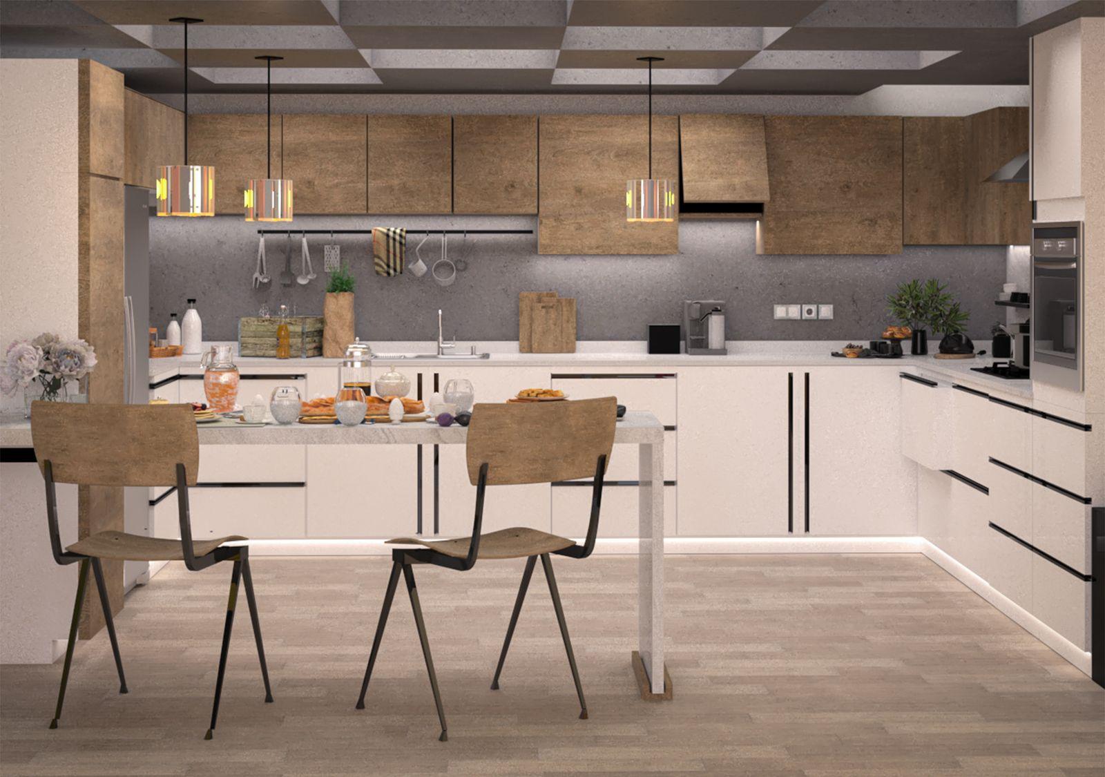 Modern Kitchen In Loft