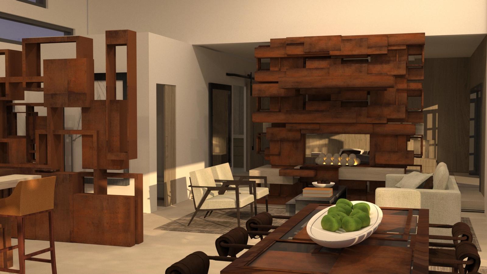 Artist Studio Loft - Living Room Morning Light
