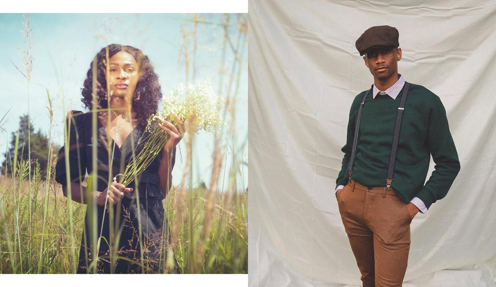 Stylist: Anita Johnson, Photographer: Mikayla Kween and Torrance H., Models: Amadea Allen and Justin Artis