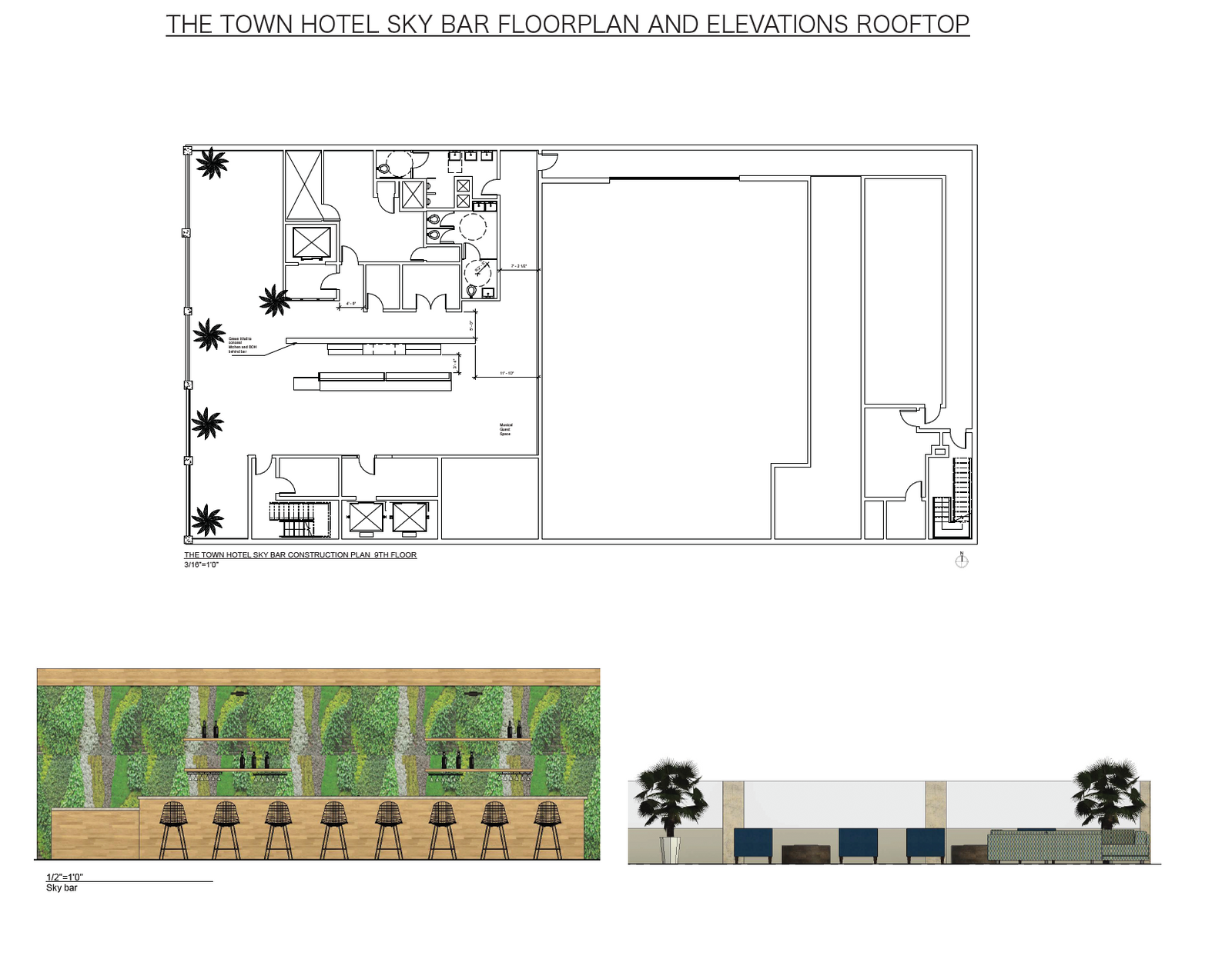 The Town Hotel - Rooftop Plans