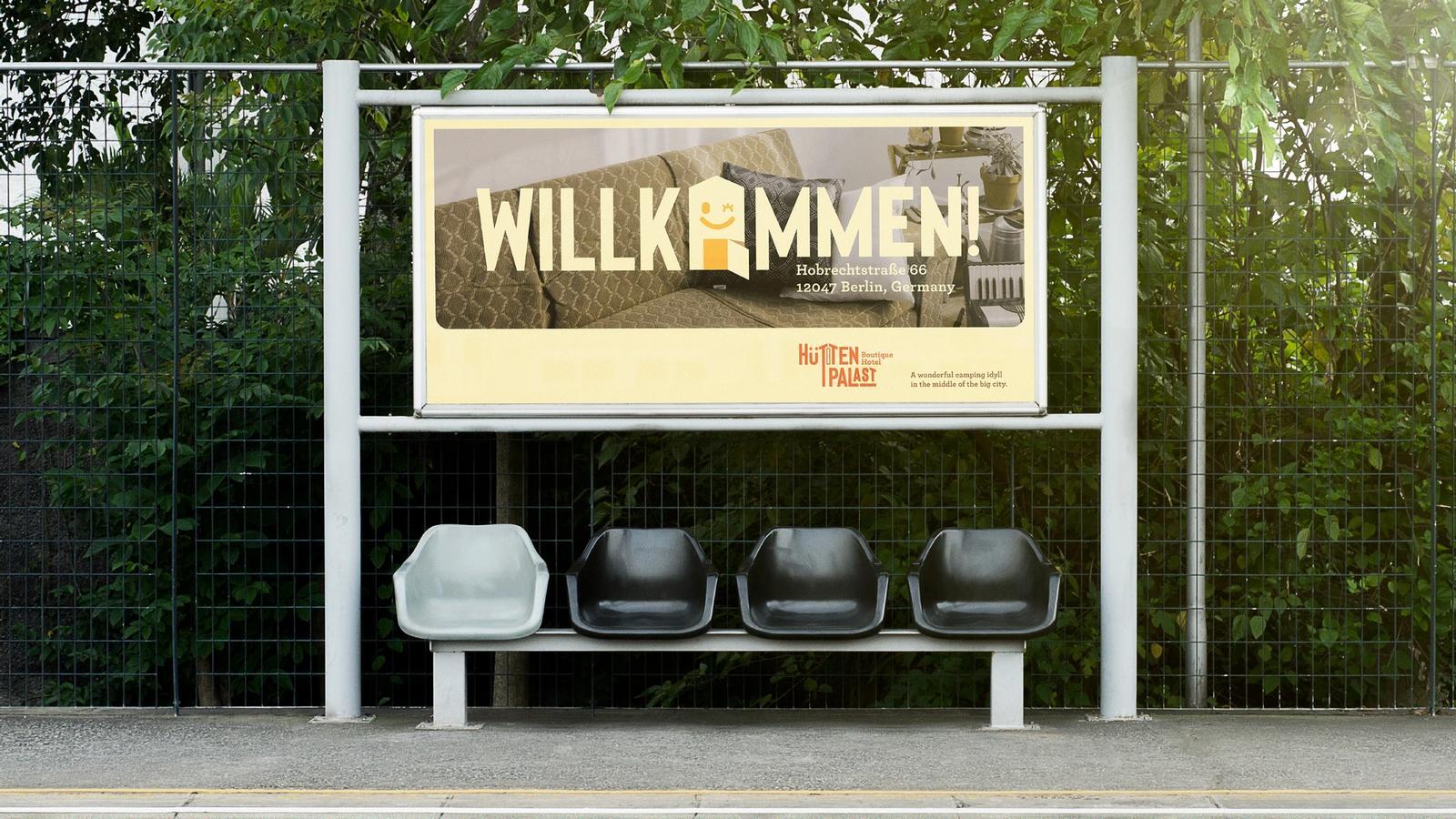Hüttenpalast Hotel // Outdoor Advertising