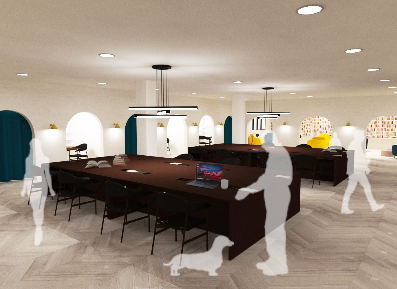 The Crossroads Residential Community - Open Working Area