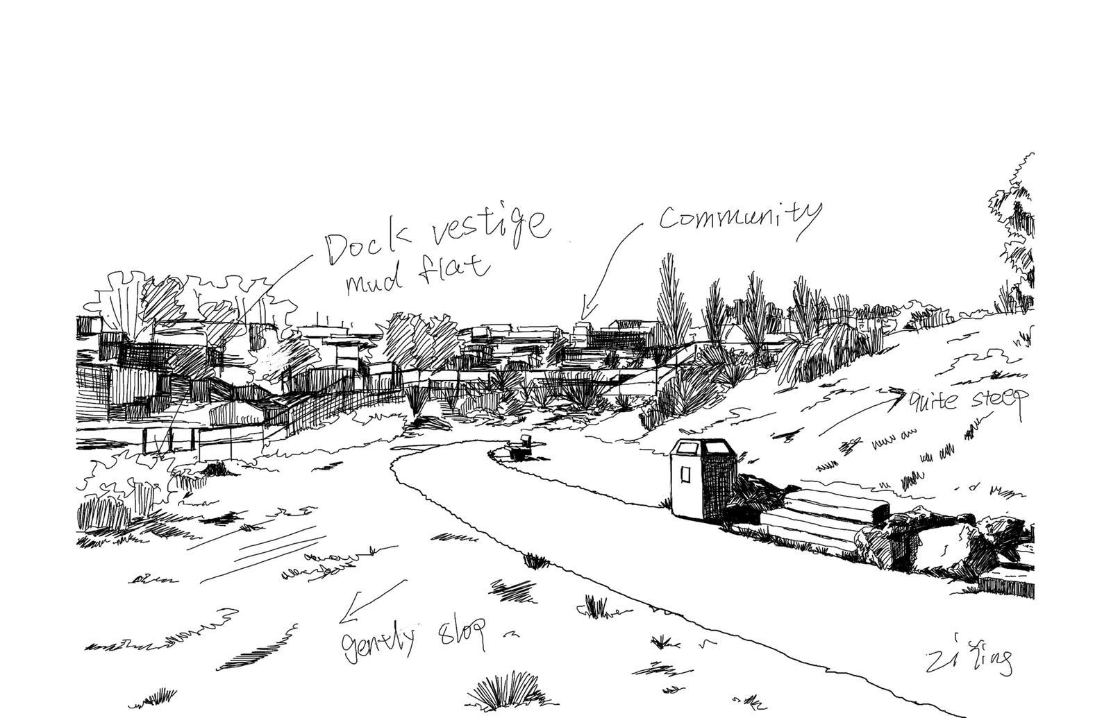 Site Analysis Sketch 6 – India Basin Park, San Francisco