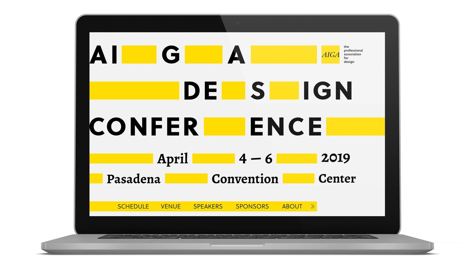 AIGA Conference // Event Website