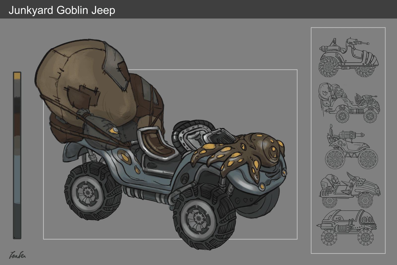 Junkyard Goblin Jeep