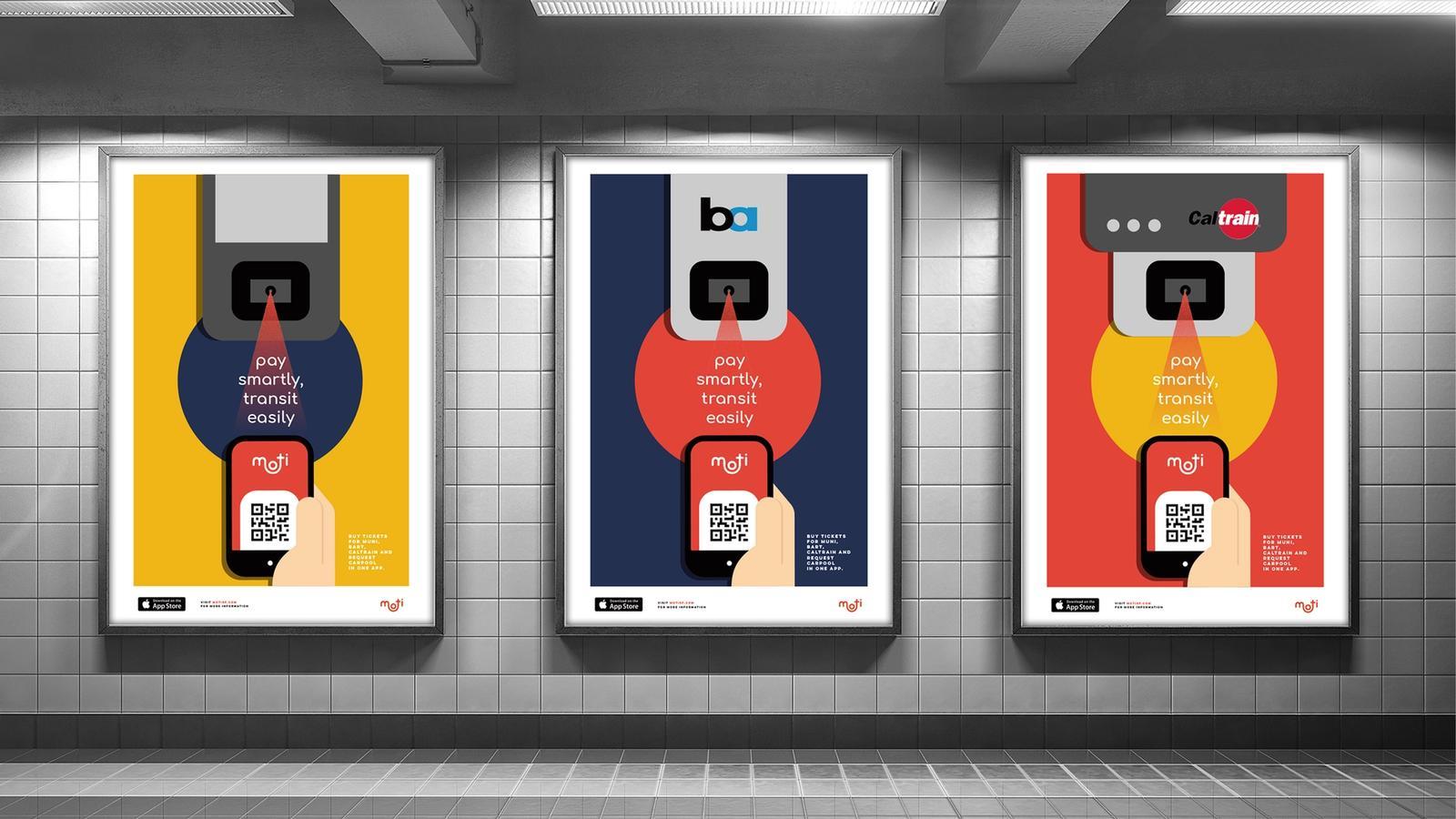 Moti Transit App Station Advertising // MFA Thesis Project