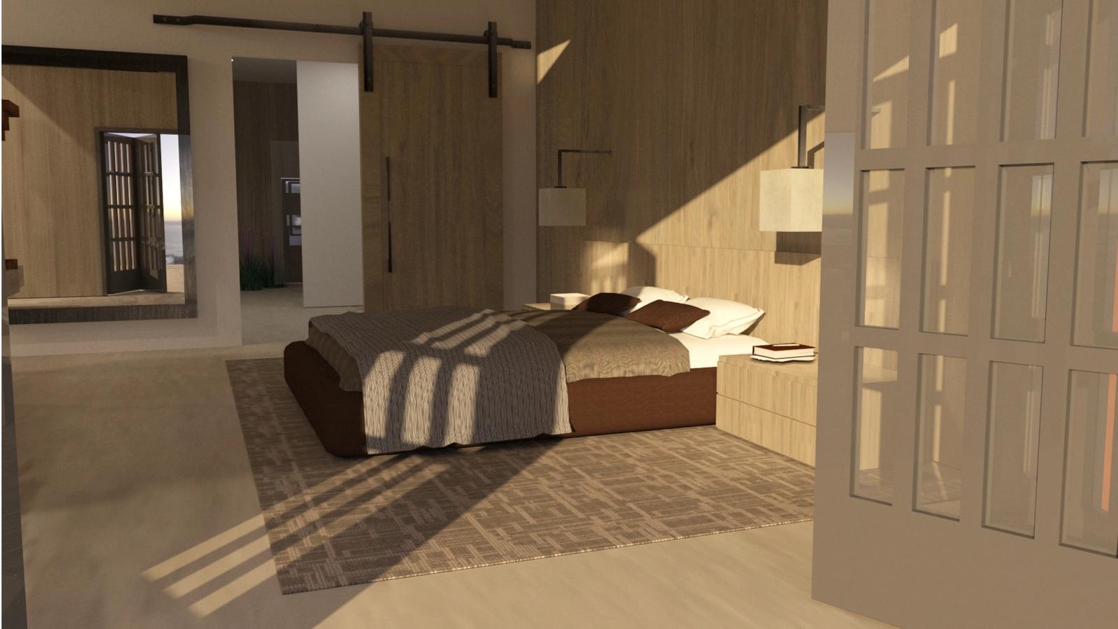 Artist Studio Loft - Bedroom Late Afternoon 2