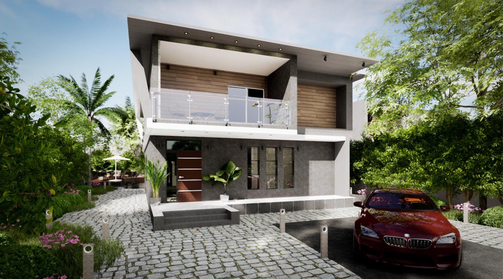 Modern Villa - Exterior Modeling and Visualization ( SketchUp + D5 Render )