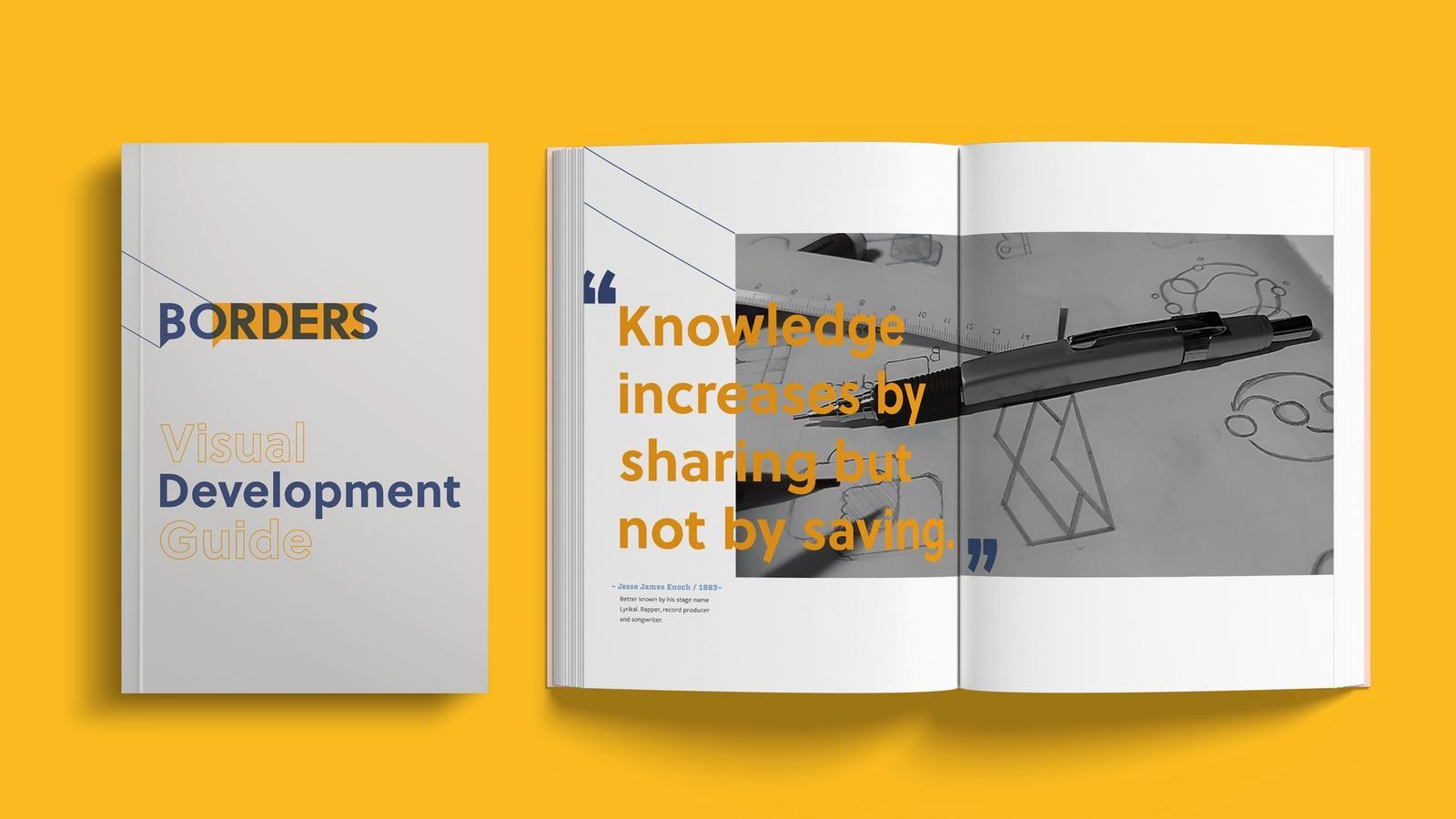 Borders Rebranding // Visual Development Guide