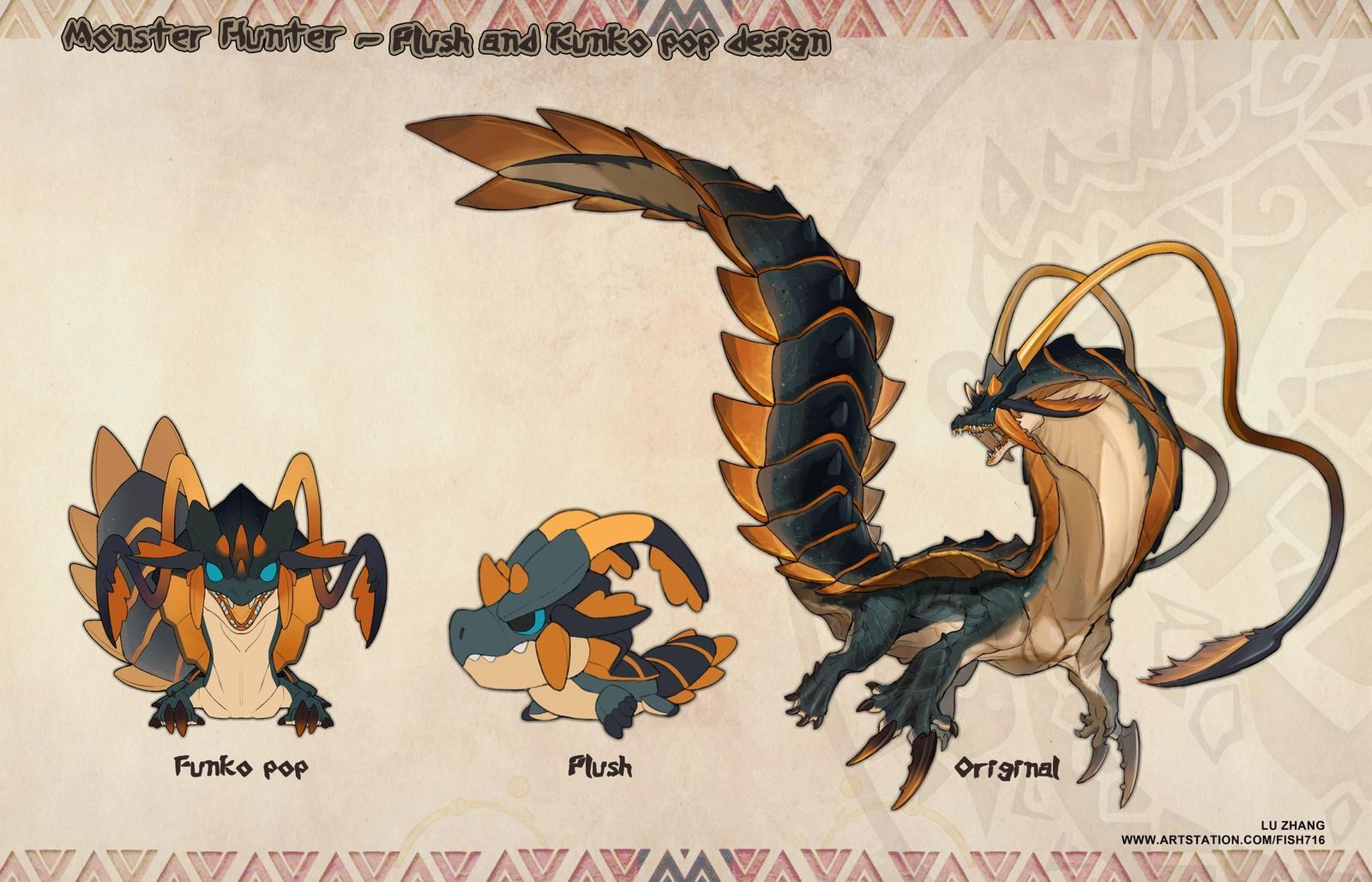 Monster Hunter - Plush & FunkoPop