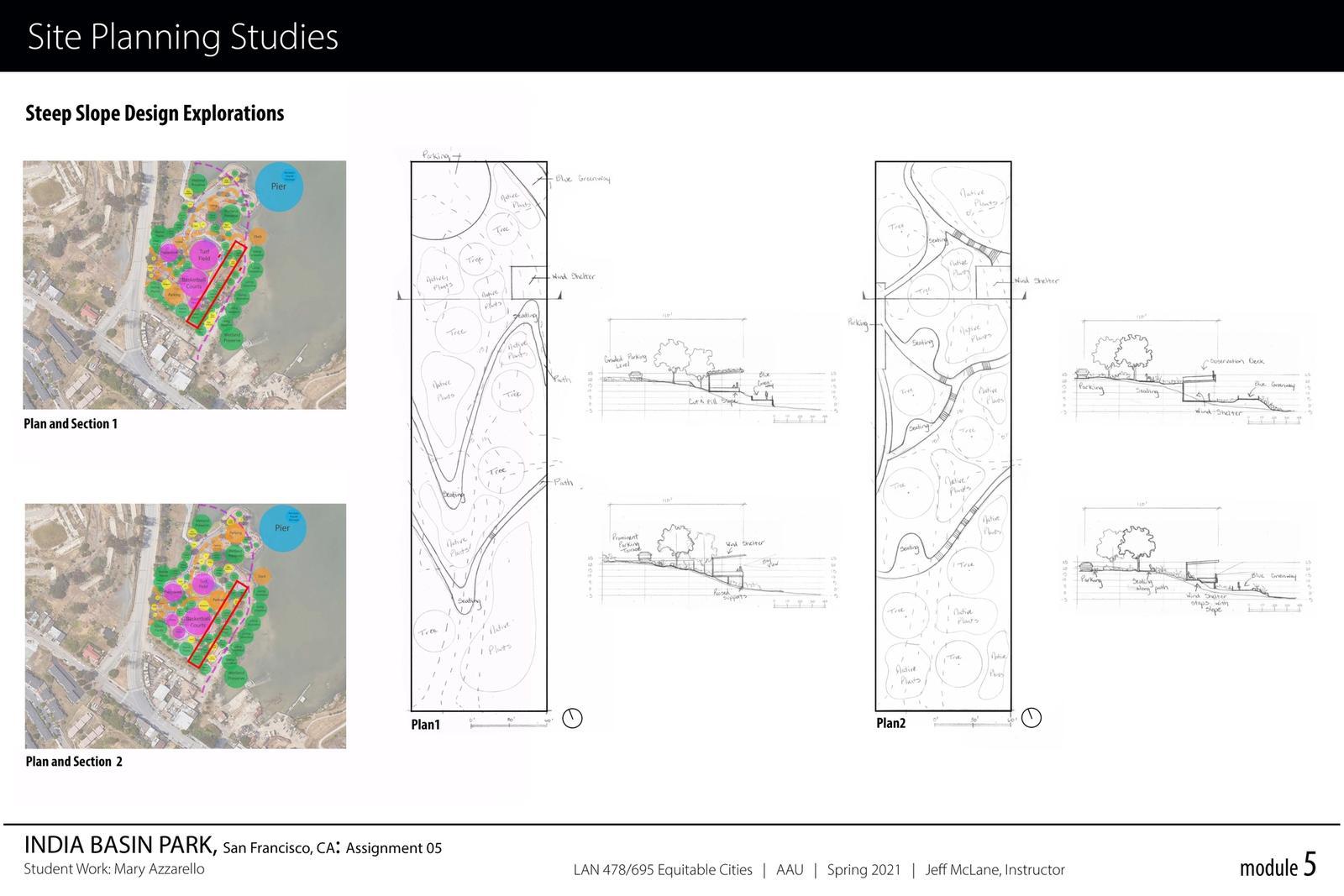 India Basin Park, San Francisco - Site Planning Studies 2
