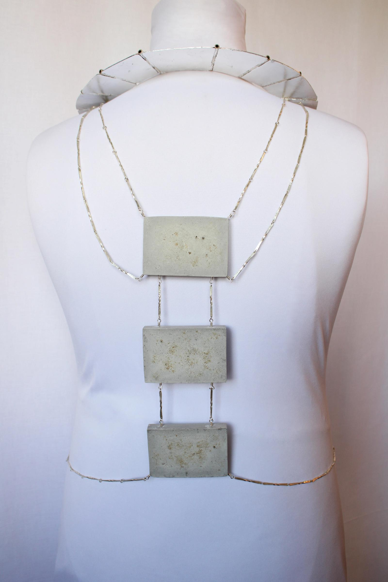 Back view; Body chain & necklace