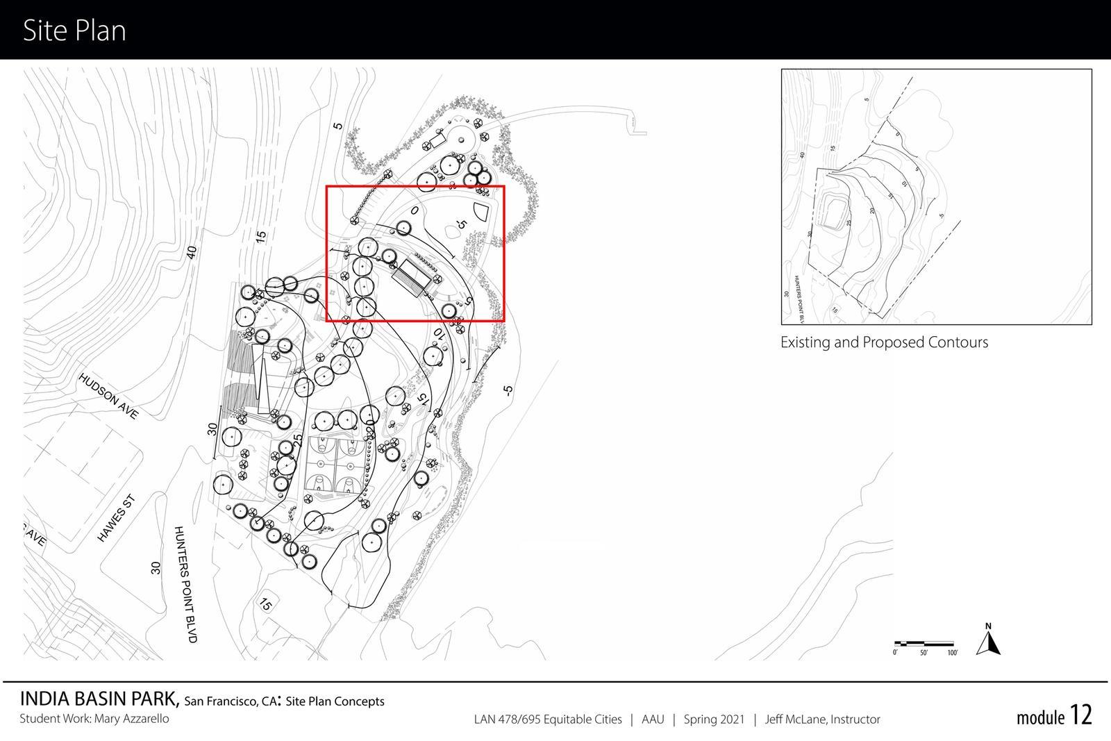 India Basin Park, San Francisco - Site Plan