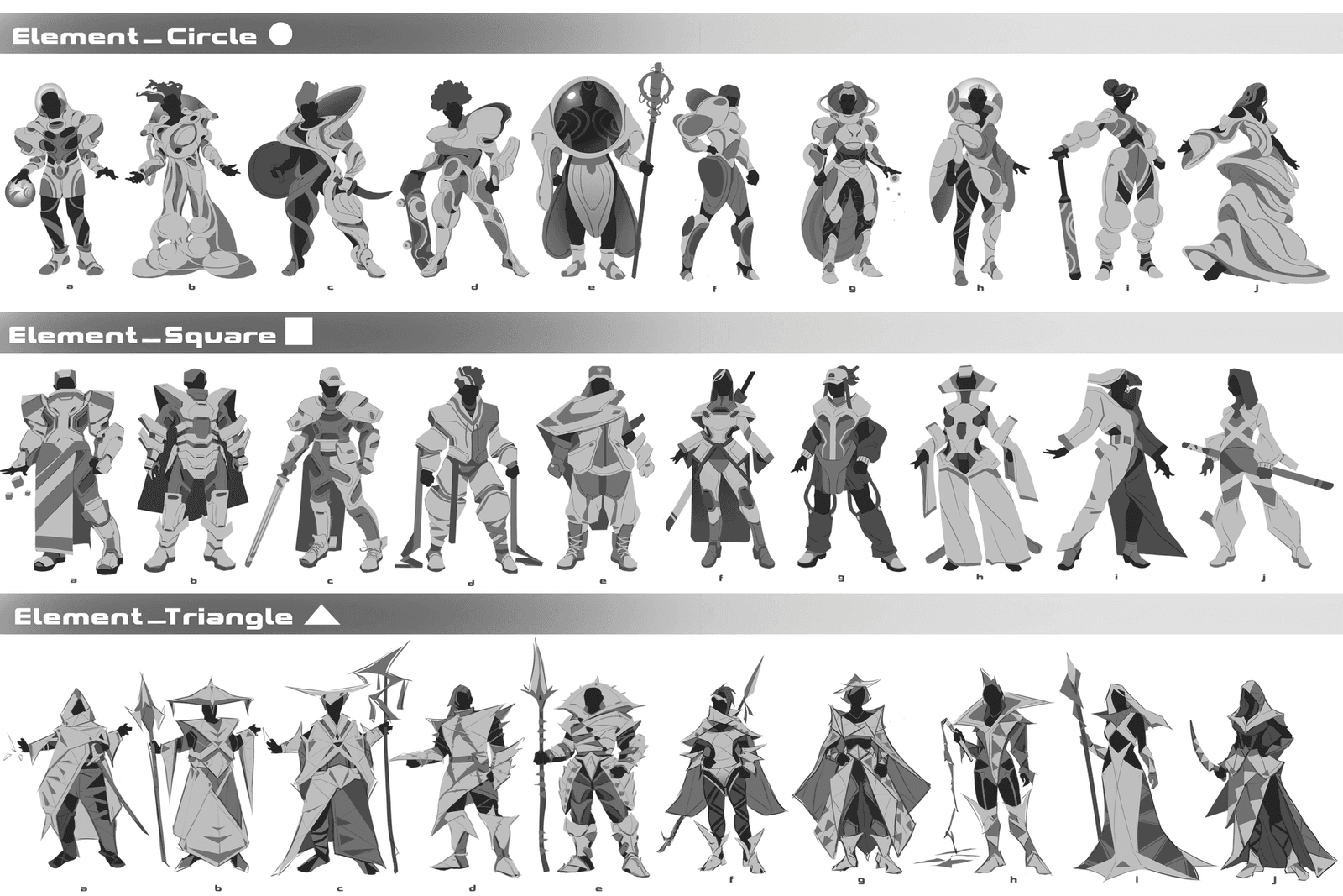Practice for Character: Shape Elements