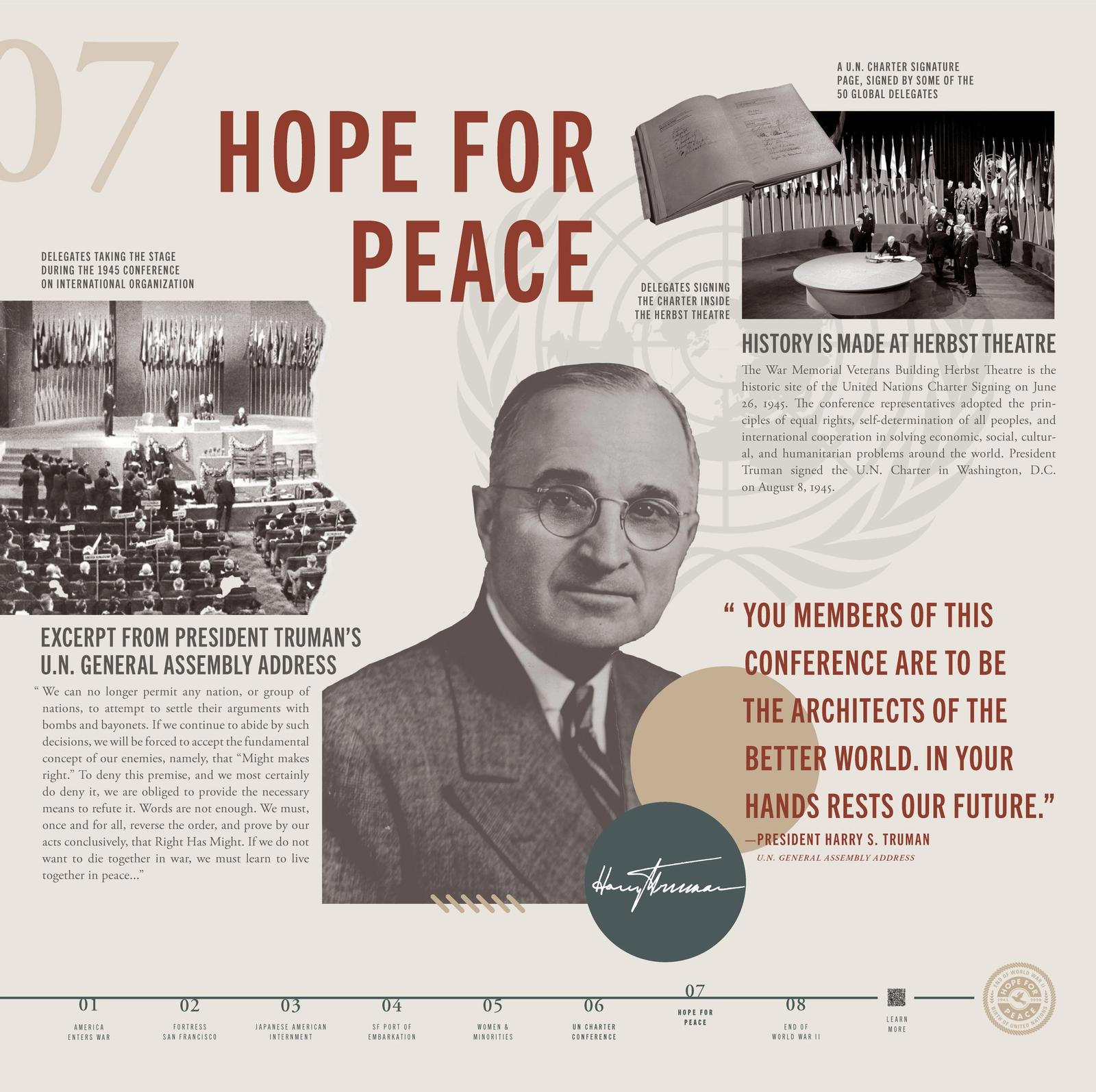 1945: Hope for Peace Banners