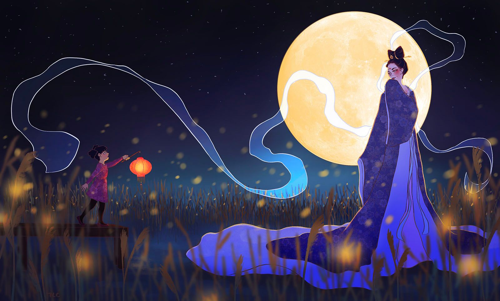 Lady and the Moon