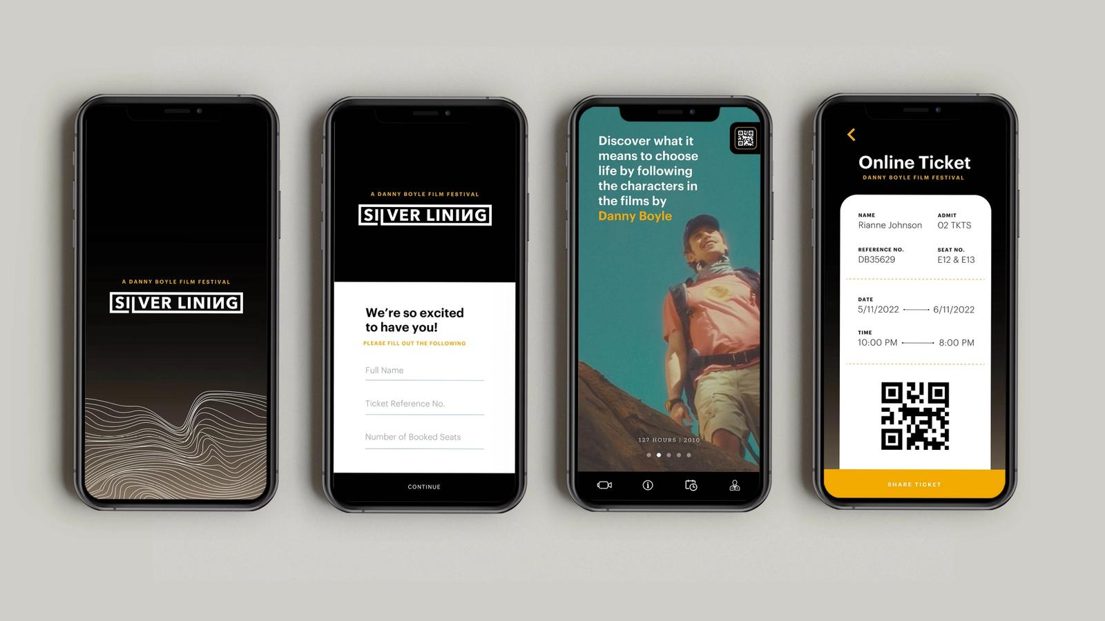 Silver Lining Mobile App // Danny Boyle Film Festival