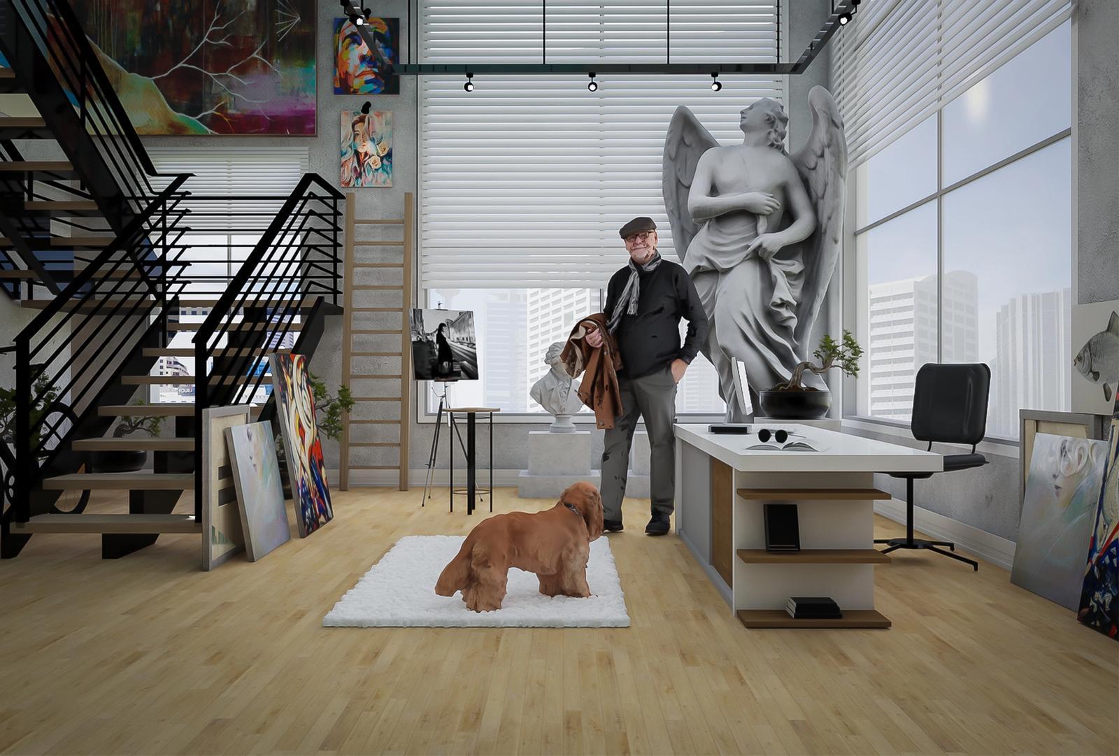 Modern Studio and Office In loft