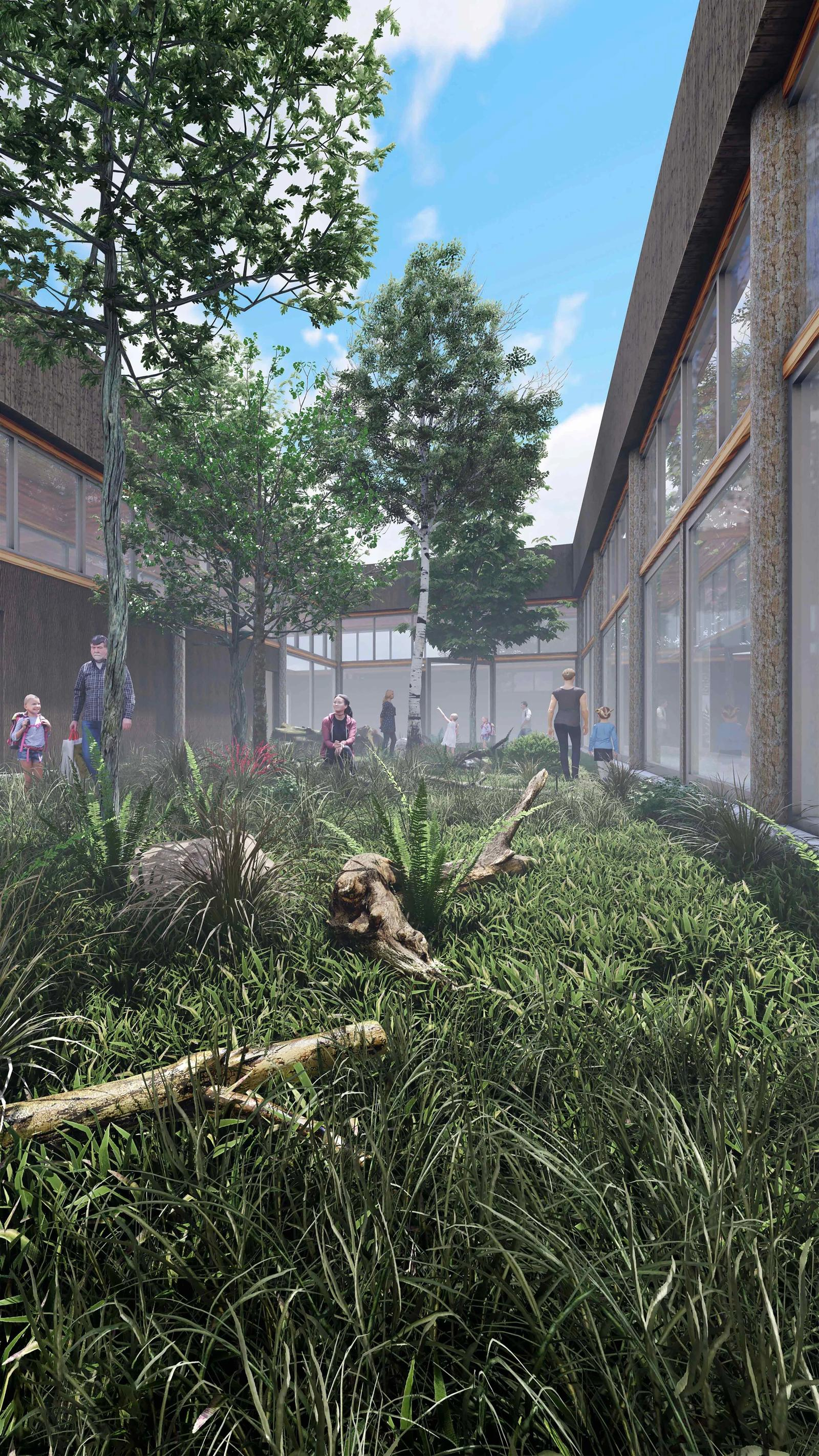 Eco-Tecture - Unifying Ecology with Architecture - Courtyard View