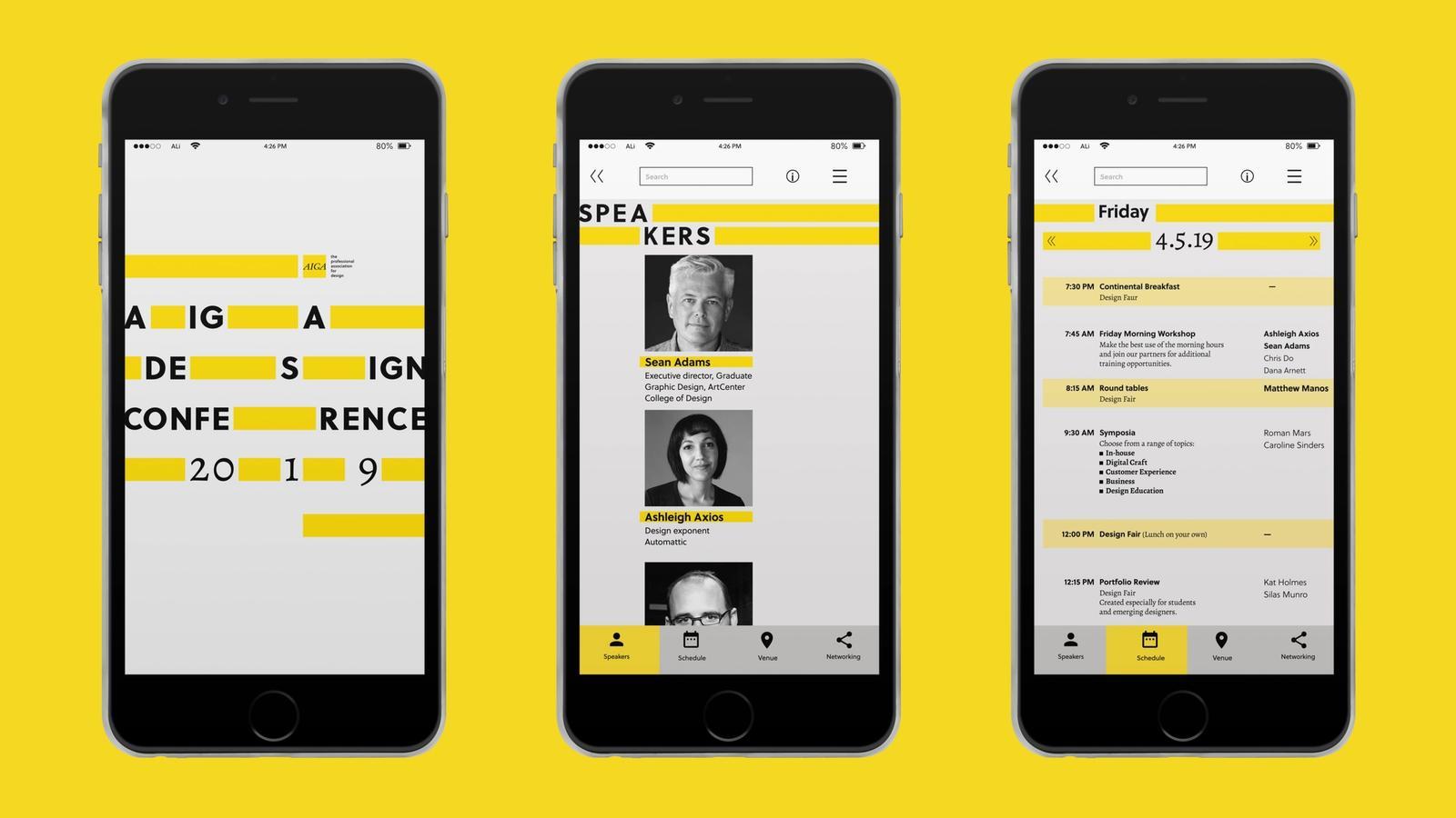 AIGA Conference // Mobile Application