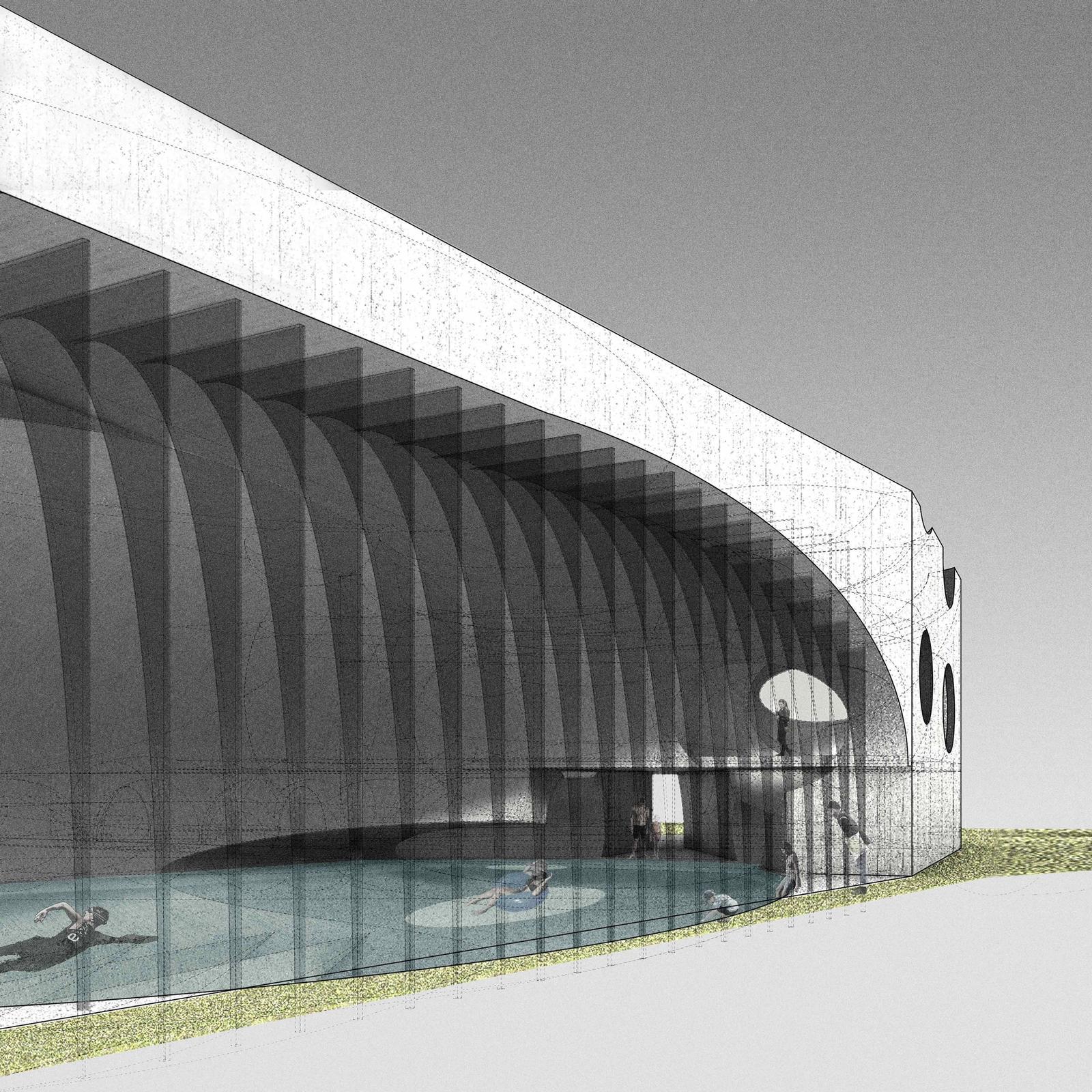 Design for a Natatorium Water Park in San Francisco