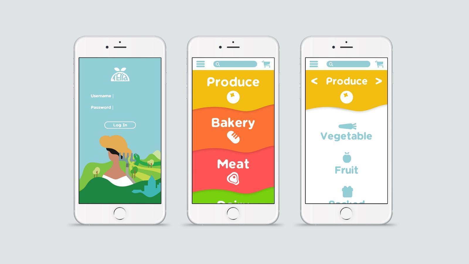 Terra Grocery Service // Mobile App