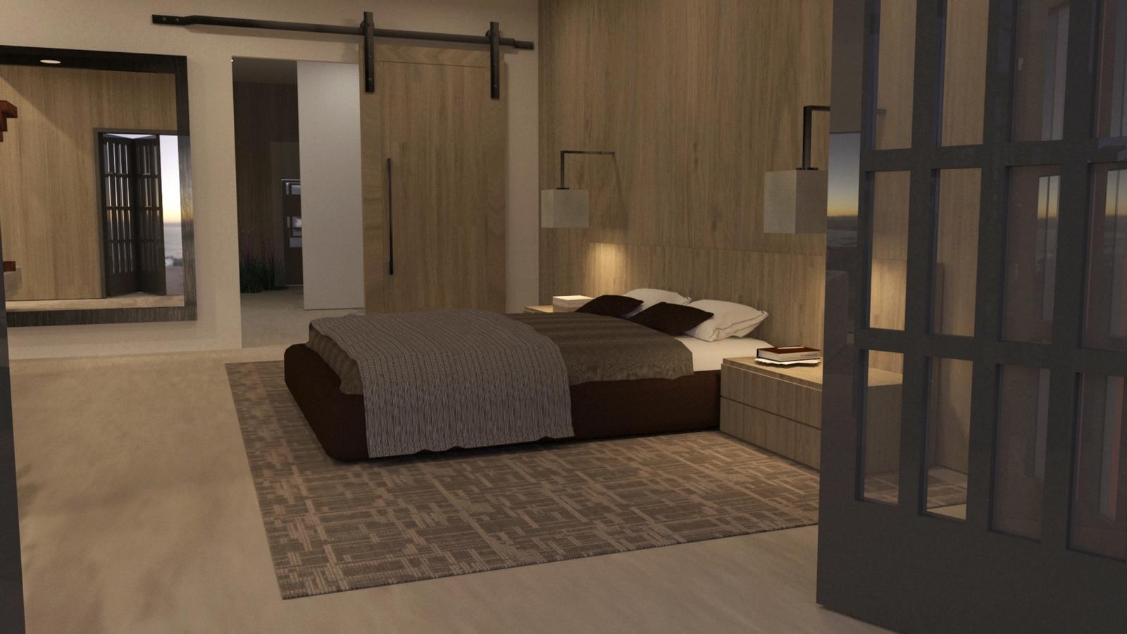 Artist Studio Loft - Bedroom Late Afternoon 1