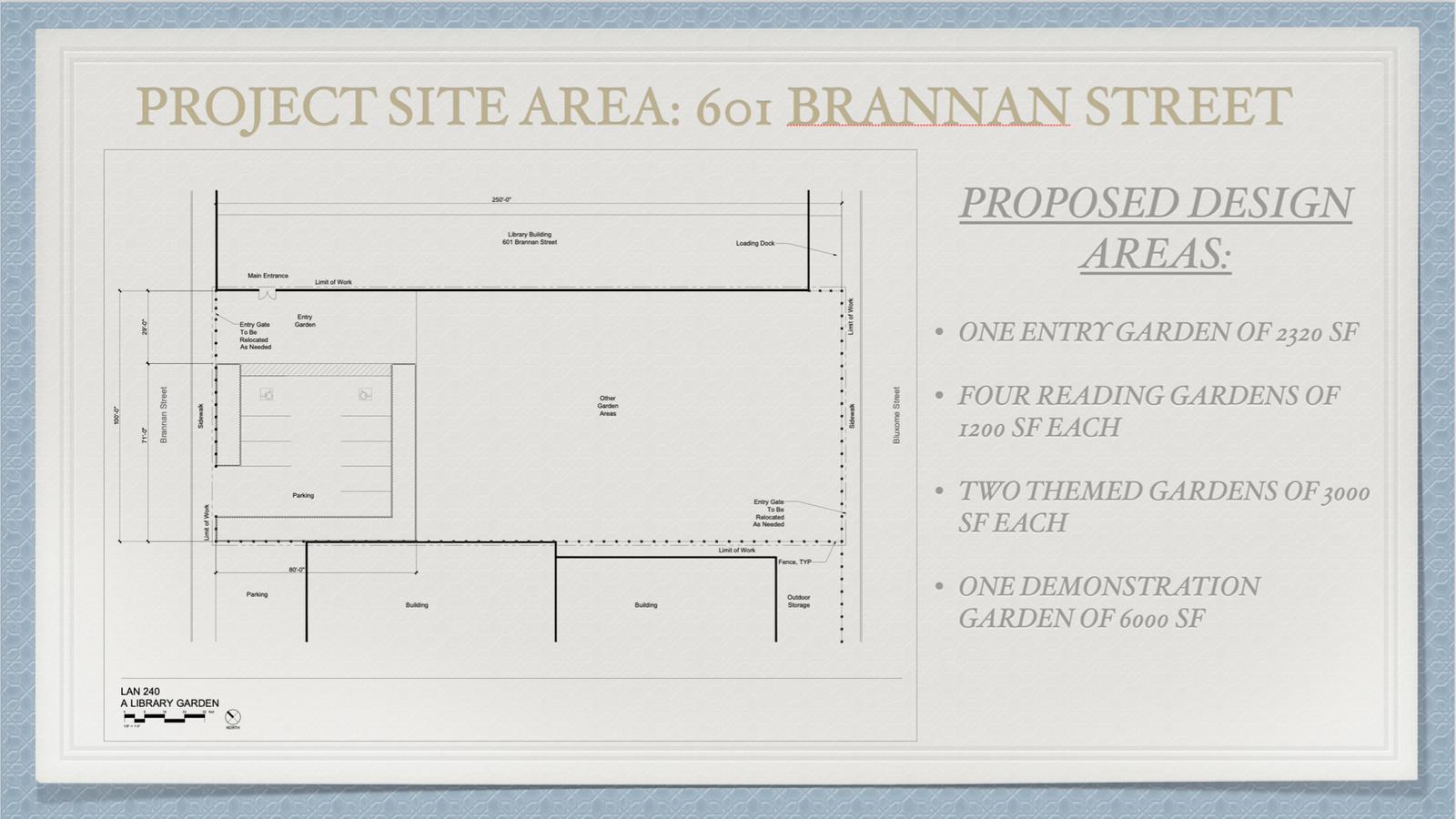 Library Garden for 601 Brannan Street Site 3