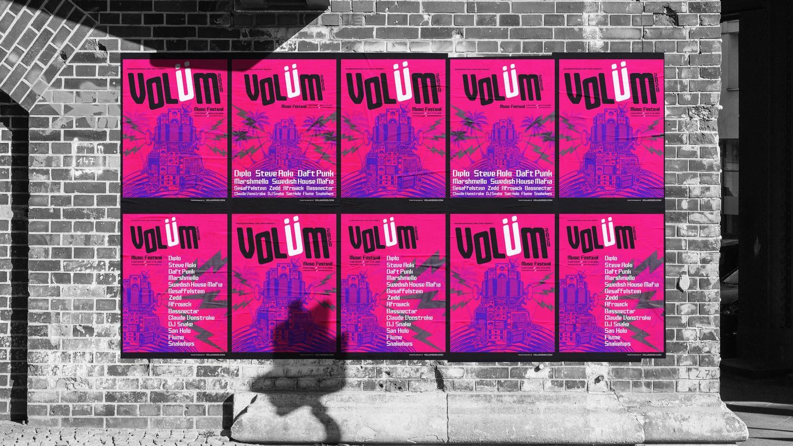 Volüm Music Festival // Outdoor Campaign