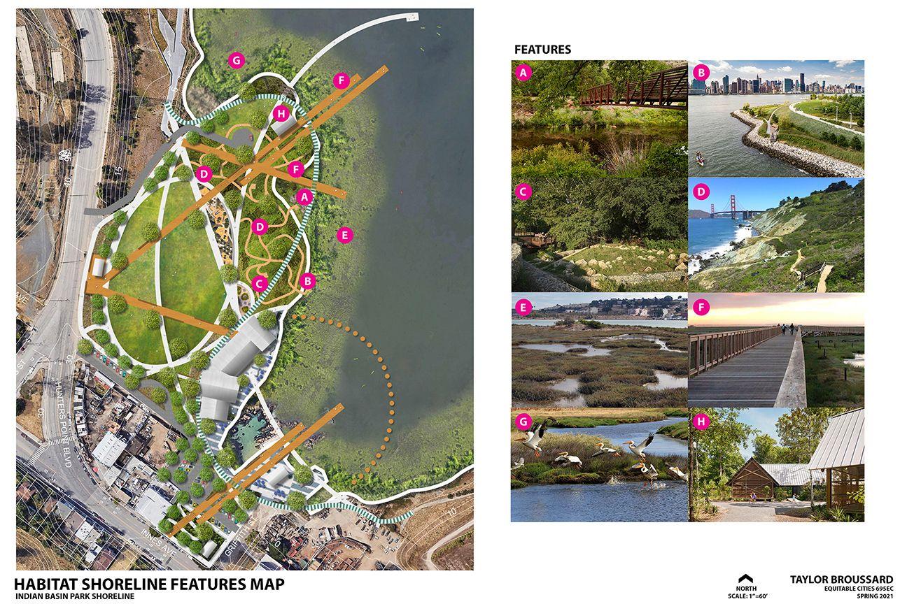 India Basin Park, San Francisco - Illustrative Site Plan Habitat Zone