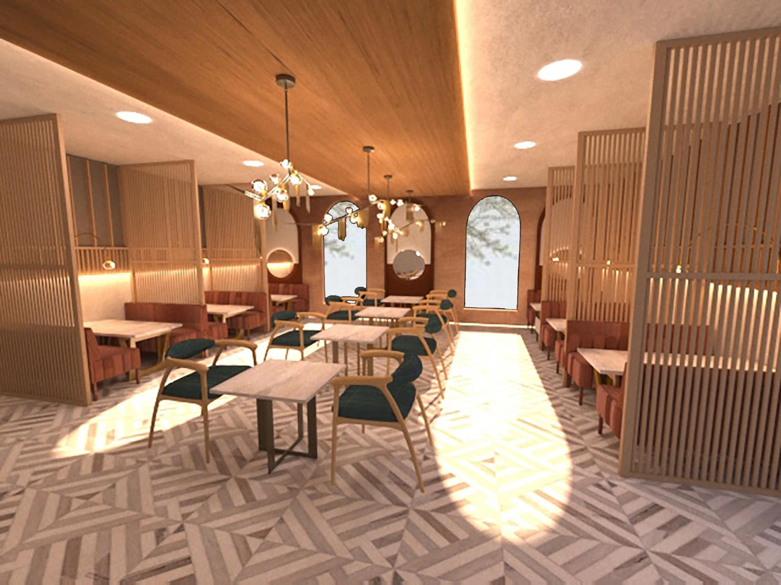 Raw Luminaire - Booth Seating Area 2