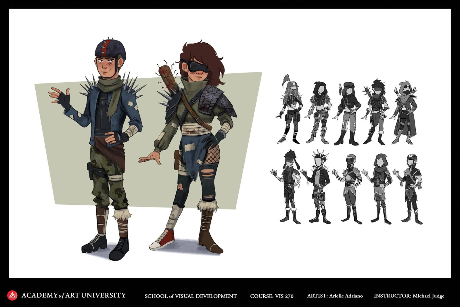 Post Apocalyptic Character Designs