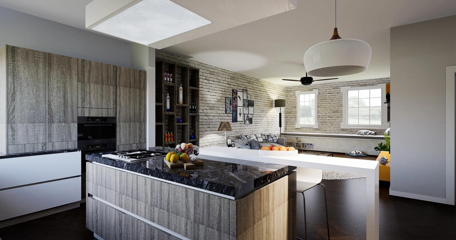 Kitchen Interior visualization ( SketchUp + D5 Render )