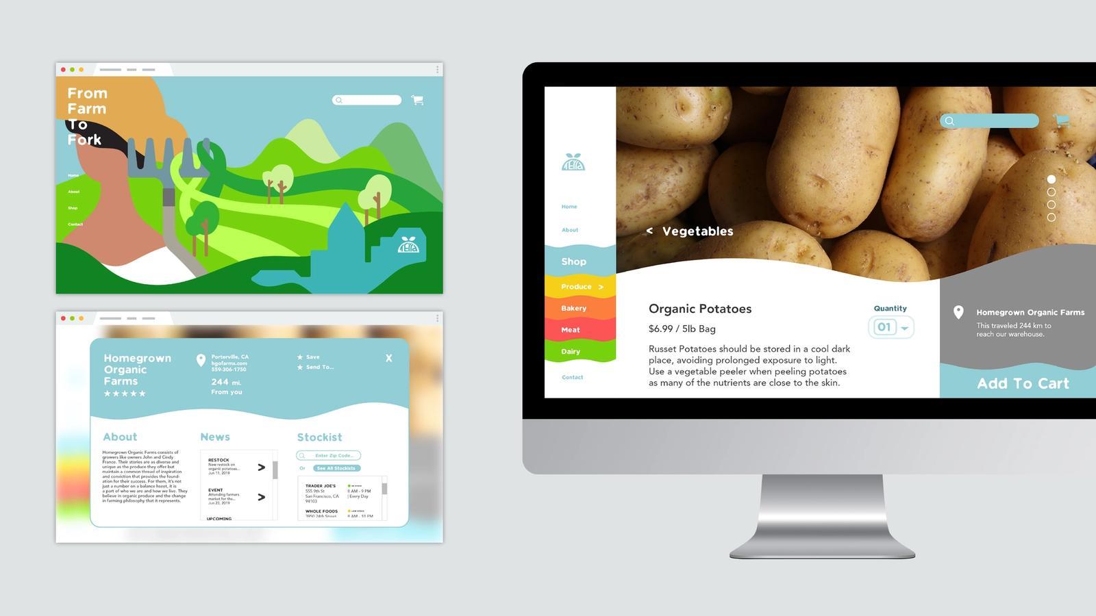 Terra Grocery Service // Website