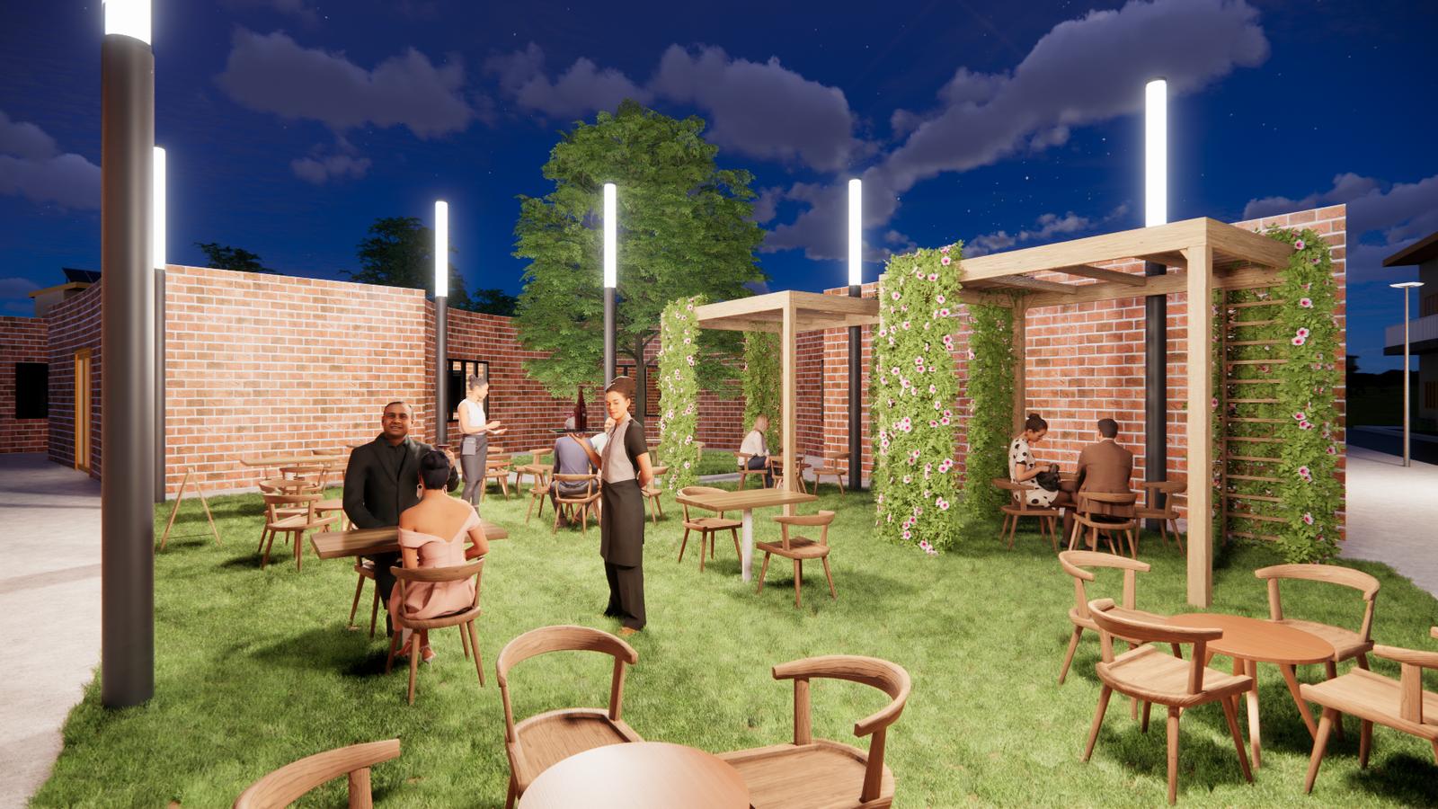 Eco-Block - Open restaurant