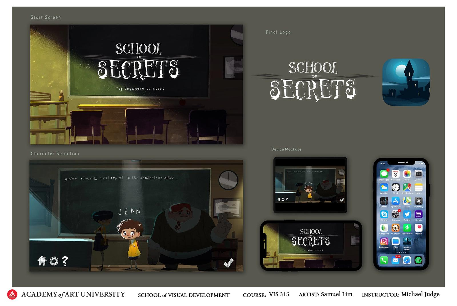 School of Secrets UI Pack 1