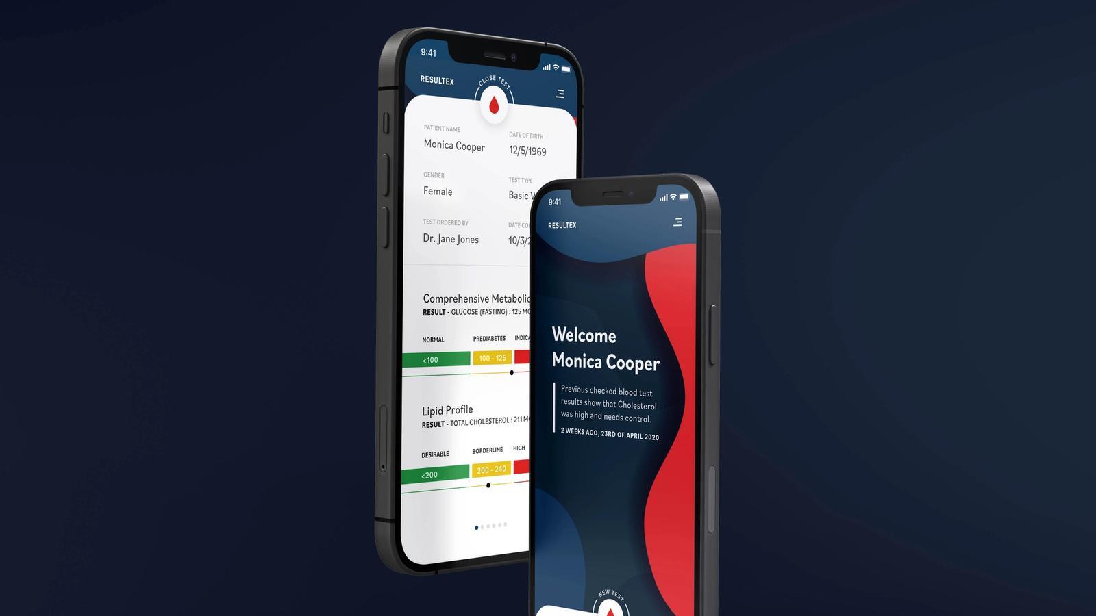 Resultex // Mobile App Blood Test